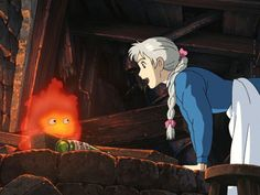Howl's Moving Castle Sophie and Calcifer