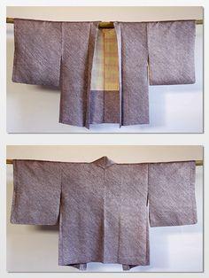 Japanese vintage purple shibori kimono jacket haori by CJSTonbo