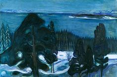 Winter Night Edvard Munch - circa 1900-1901