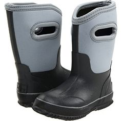 great idea for kids rain boots...they can pull them on without help
