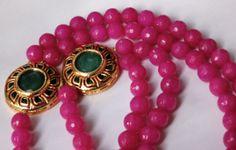Handmade Magenta Onyx Multi String Necklace / by ArmCandyForYou, $62.00