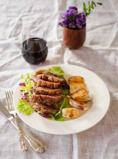 Dinner Recipe for Two: Duck Breast with Pomegranate-Citrus Glaze