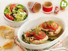 Gefülle Hühnerbrust auf italienische Art