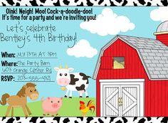 FREE Farm Animals Birthday Printables
