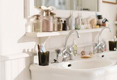 Bathroom Vignette Tips And Inspiration Small Bathroom Best Wall Shelves Storage Ideas Apartment Therapy with ucwords] Storage Shelves, Wall Shelves, Storage Spaces, Storage Ideas, Bathroom Styling, Bathroom Storage, Modern Bathroom, Small Bathroom, Build A Frame
