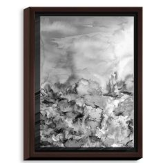 DiaNocheDesigns 'Into Eternity Greyscale' by Julia Di Sano Painting Print on Wrapped Framed Canvas