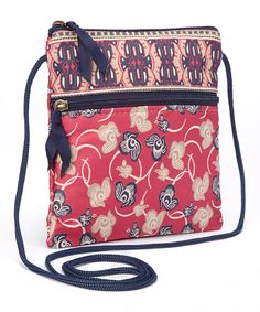 Love this Derin Hibiscus City Crossbody Bag by Derin on #zulily! #zulilyfinds