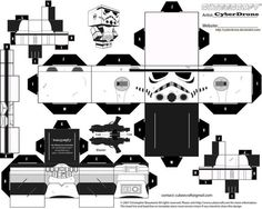free stormtrooper paper craft cubee printable: