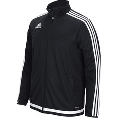 This men's soccer jacket keeps you covered when you're warming up and running…