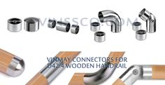 Vinmay connectors for wooden handrail Stainless Steel Railing, Stainless Steel Pipe, Handrail Fittings, Heat Exchanger, Steel Water, Water Pipes, Chairs, Accessories, Decor