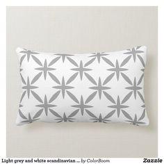 Light grey and white scandinavian trellis pattern lumbar pillow Lumbar Pillow, Throw Pillows, Grey Home Decor, Trellis Pattern, Grey Cushions, Custom Pillows, Fabric Patterns, Grey And White, Scandinavian