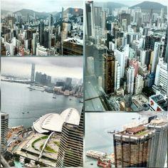Hoch hinaus - über den Dächern von Hong Kong bei leider schlechter Wetterstimmung. Im Gebäude des Central Plaza hat der Besucher die Möglichkeit im 46. Stock die Aussicht zu genießen. Gratis!   #hongkong #centralplaza #hk #travel #highlight #sightseeing #xiaomi #mi3 #hochhaus #free #instalike #instagramers #urlaub #view Made with @nocrop_rc #rcnocrop