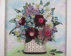 Original Paper Quilling Wall Art Basket by MagicQuillingStrips