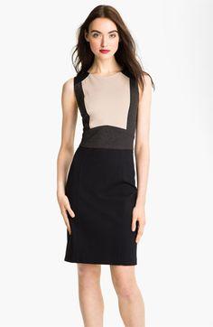Tahari Sleeveless Colorblock Sheath Dress available at #Nordstrom