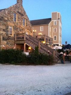 DeWolf Tavern, Bristol, RI. One of the best dinners I've ever eaten. Gorgeous place, gorgeous waterside view.