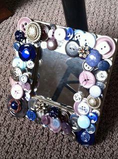 handmade button mosaic by MosaicTreasureBox