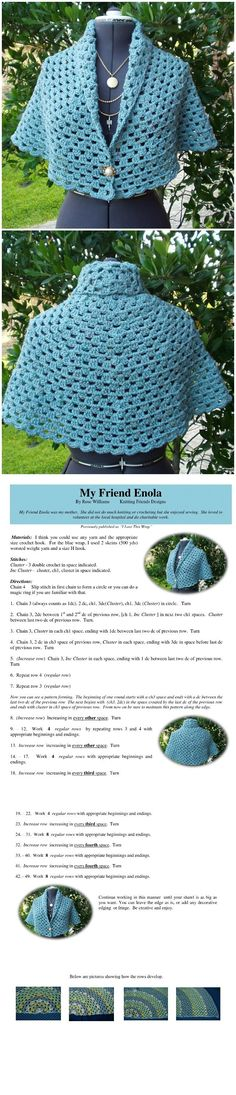 Every woman loves to wear elegant and attractive and this post we are writing for the women who also loves to wear clothing which one they have crocheted themselves, We have found for you pattern where you will learn how to crochet the shawl that you can see on these pictures. This shawl may be …
