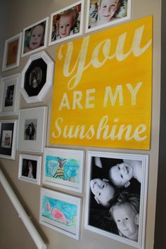 I LIKE THAT THE FRAMES ARE ALL WHITE.  DIY Gallery Wall