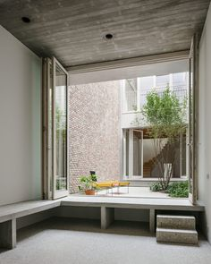 NU architectuuratelier, Stijn Bollaert · House on Bagattenstraat · Divisare Contemporary Architecture, Art And Architecture, Architecture Details, Architectural Section, Minimal Home, Outdoor Furniture Sets, Outdoor Decor, Elegant Homes, Living Area