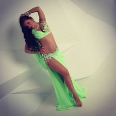 Green belly dance costume