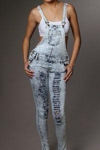 cf3c99f0d2b Image of Distressed Skinny Jean Overalls. Tiffanie Stargell · Distressed  Jeans