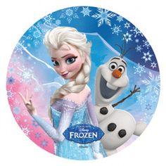 Tortenaufleger Disney Frozen Eiskönigin Elsa und Olaf 21cm