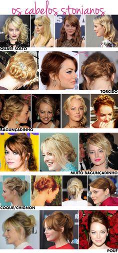 Estão dizendo por aí que o cabelo de Emma Stone é o mais cobiçado pela mulherada que frequenta os salões de Hollywood!