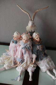 """Купить Подвижная кукла """"Императорский Мальчик"""" - голубой, нежность, мальчик, кукла ручной работы, кукла"""