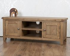 Chunky Farmhouse Solid Oak Dorset Plasma TV Bench Unit Stand Cabinet in Home, Furniture & DIY, Furniture, TV & Entertainment Stands | eBay