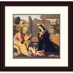 Global Gallery 'The Nativity' by Filippino Lippi Framed Painting Print Size: