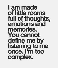 I'm too complex