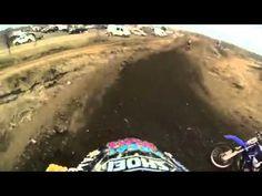 Dirt bike jumps a turn