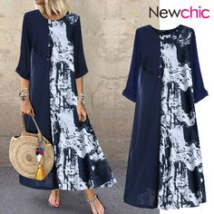 Plus Size Print Dress With Sleeves, Oversized Print Maxi Dresses - NewChic{ - Ne. - - Plus Size Print Dress With Sleeves, Oversized Print Maxi Dresses – NewChic{ – NewChic Mobile Source by hlesianawai Long Shirt Dress, Maxi Dress With Sleeves, Themed Outfits, Patchwork Dress, Striped Maxi Dresses, Casual Summer Dresses, Two Piece Dress, Blazers, Dress Shoes