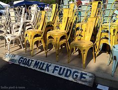 Need a chair? Or a Goat Milk Fudge Sign? Seen at Chicago's Randolph Street Market