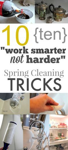 Get your Spring Cleaning done more easily than ever before with these clever tips! I LOVE cleaning tricks and hacks!