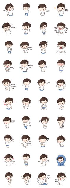 Hi ! I'm Boobib Boy.I like to were a white t-shirt.Let's enjoy with my style stickers for your chat.