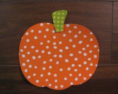 Fall Pumpkin Iron On Applique, Add An Initial for Free, You Choose Fabric