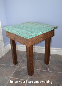 follow your heart woodworking: Pallet Tables