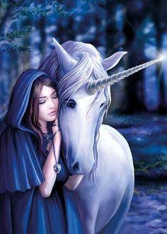 Fantasy Art Animals Mythical Creatures Anne Stokes 54 Ideas For 2019 Fantasy Girl, Unicorn Fantasy, Unicorn Art, Dark Fantasy Art, Fantasy Artwork, White Unicorn, Funny Unicorn, Unicorn Crafts, Unicorn And Fairies