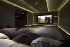 Would definitely have this as a home theatre room! Alongside a bunch of comfy pillows on the floor.