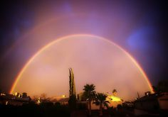 Double rainbow over the Rincons, Tucson, Arizona via Phil Chavanne http://www.visittucson.org/