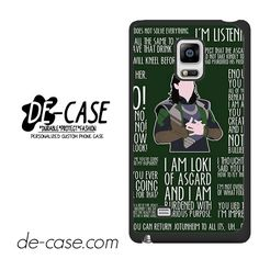 Loki Quotes DEAL-6627 Samsung Phonecase Cover For Samsung Galaxy Note Edge