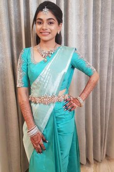 Discover recipes, home ideas, style inspiration and other ideas to try. Wedding Saree Blouse Designs, Pattu Saree Blouse Designs, Half Saree Designs, Fancy Blouse Designs, Pattu Sarees Wedding, South Indian Blouse Designs, Indian Fashion Dresses, Indian Outfits, Indian Bridal Fashion