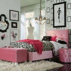 Young Parisian Beds will add alluring Hollywood glamorous styling to youth bedrooms, with their plush fabrics and eye-catching jeweled accents. Upholstery choices include shimmering polyester velvet in white, pink and lavender colors.