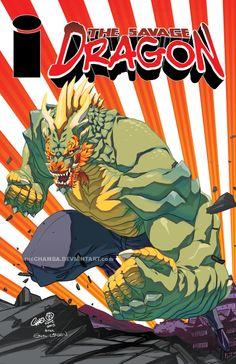 IMAGE re-imagined - Savage Dragon by CHAMBA
