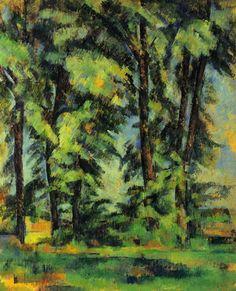 Paul Cezanne - Large Trees at Jas de Bouffan (1887)