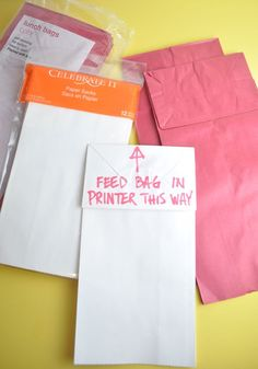 Cool! print on paper bag instructions. Think of all the awesome party favor bags you could do!