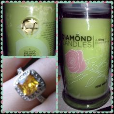 This candle smells amazing, plus the ring is gorgeous!