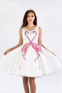 Flamingo Kiss Dress by Nobilis Flamingo Outfit, Cool Outfits, Fashion Outfits, Dress Fashion, Fashion Ideas, Women's Fashion, Fashion Trends, 2nd Wedding Dresses, Necklines For Dresses