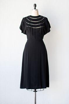 vintage 1940s dress | vintage 40s dress | Luasanne Dress